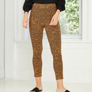 NWT Leopard Print High-Rise Cropped Pant